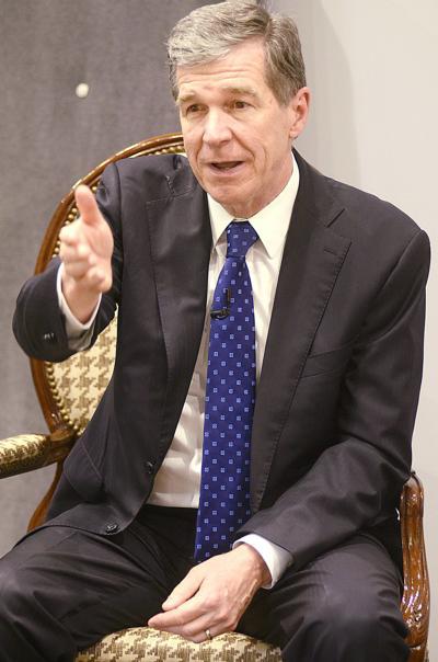 Gov. Roy Cooper visits Furniture Academy