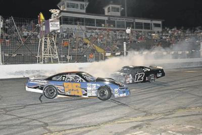 HMS Roundup: Leicht spins sideways across finish line to win 50-lap race