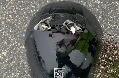 A motorcyclist was struck by lightning while riding on I-95. His helmet couldn't save him.