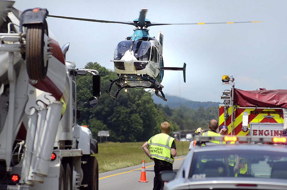 Vehicle scooter collide on i 40 west near long view for Roberts motors hickory nc