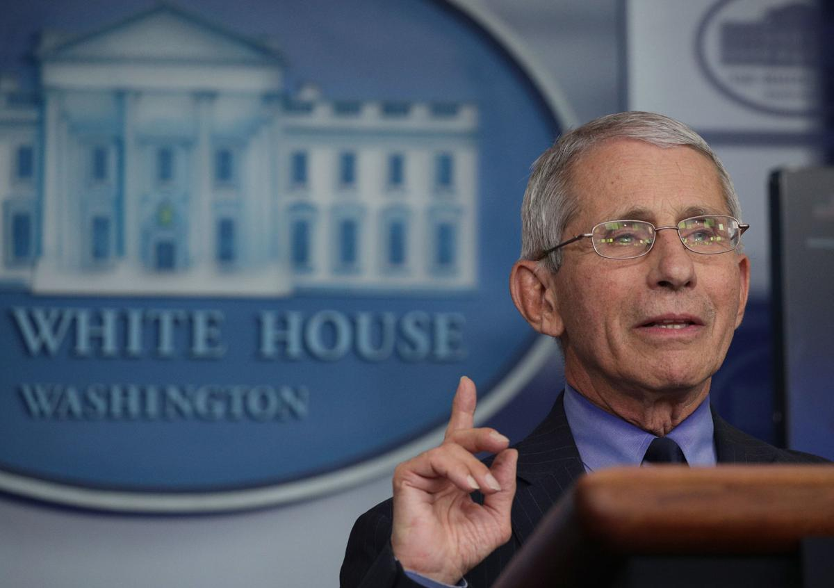 Dr. Anthony Fauci, director of the National Institute of Allergy and Infectious Diseases, speaks during the daily briefing of the White House Coronavirus Task Force, at the White House April 17, 2020 in Washington, DC. President Trump is facing criticism from the nations governors over his three phase plan to open the states, citing that more testing is needed during the COVID-19 pandemic.