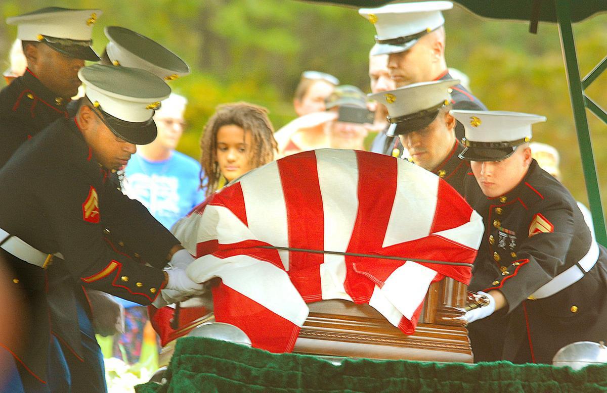 Pfc. John Taylor Burke burial