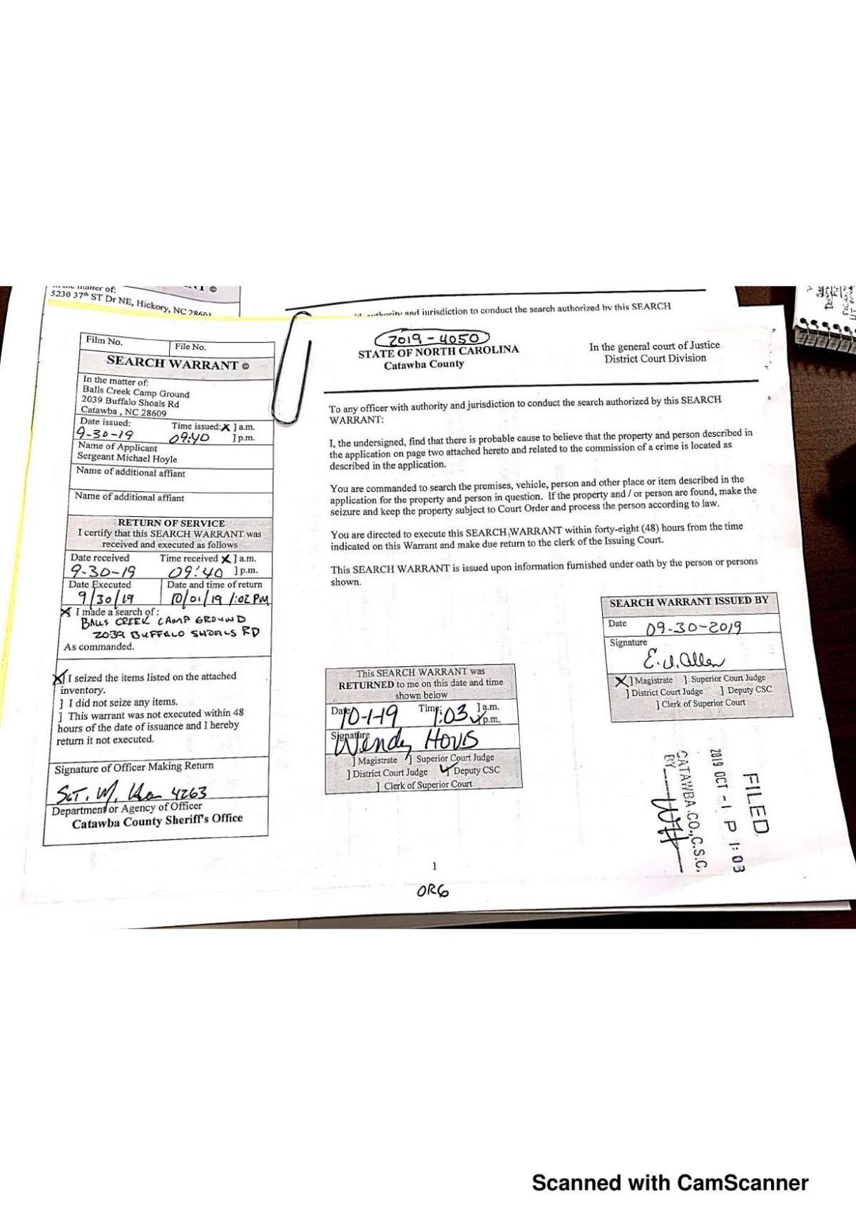 Balls Creek fire search warrant.pdf