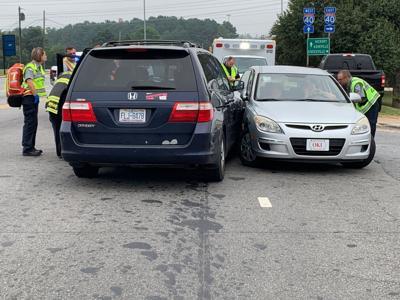 Two-car crash blocks intersection on Lenoir Rhyne Boulevard