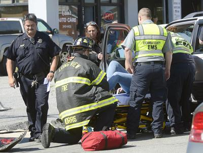 VIDEO: Two transported after sustaining injuries in multicar wreck