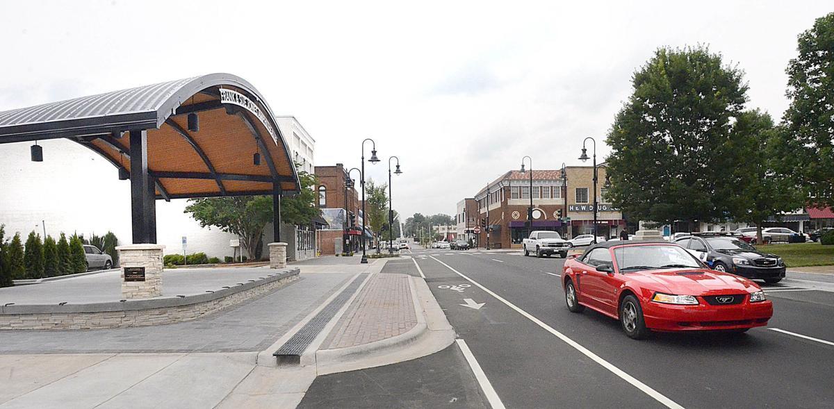 Newton streetscape