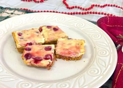 Apple Cranberry Cheesecake