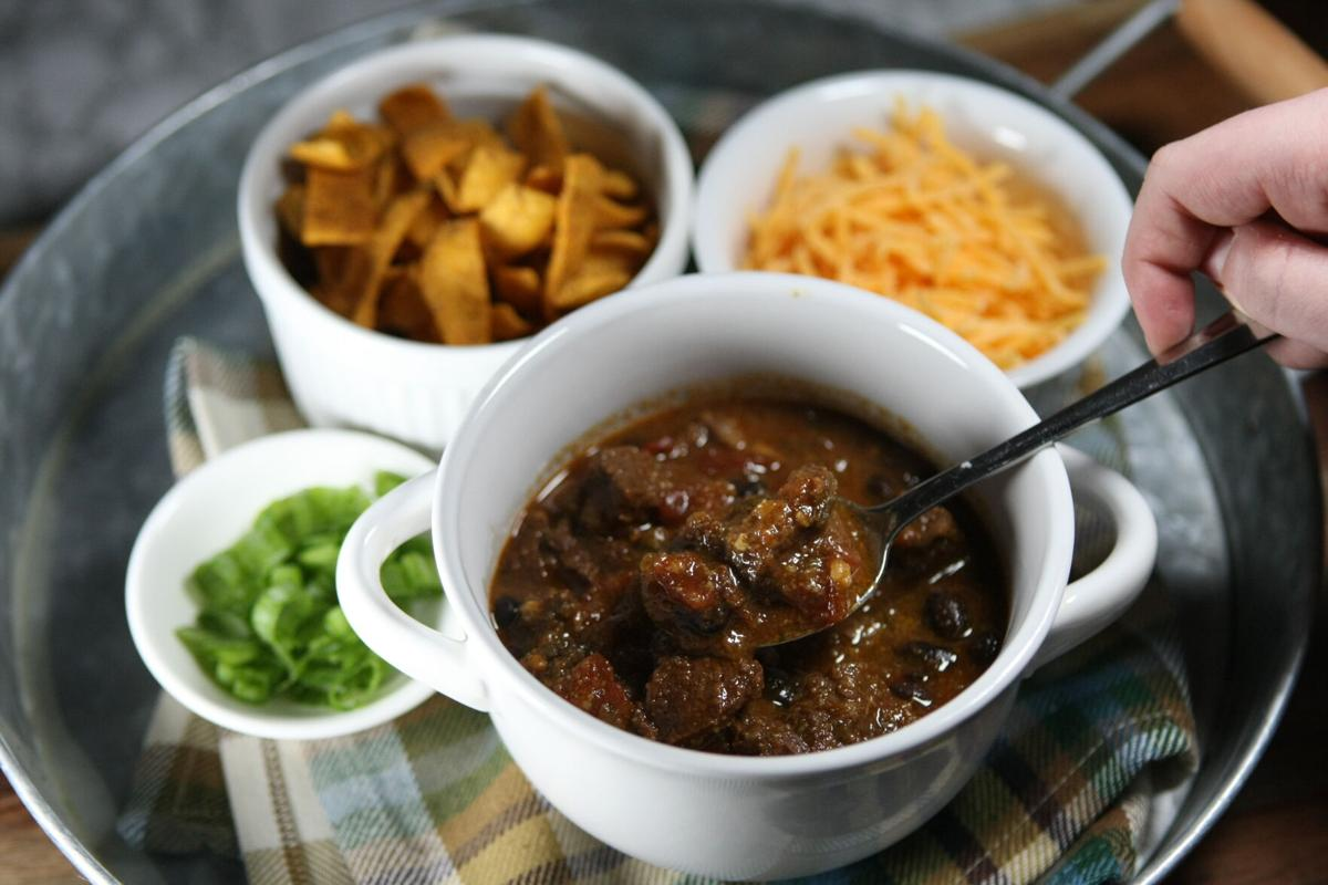 Slow-cooked Tex Mex chili stew