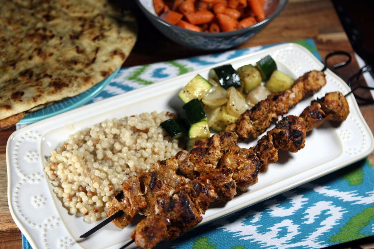 Moroccan pork kabobs