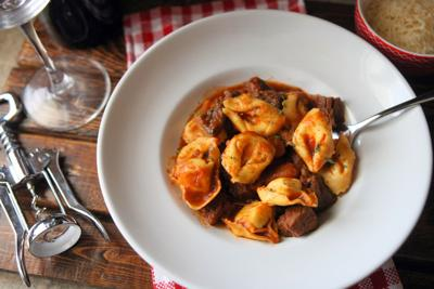 Slow cooker beef and tortellini