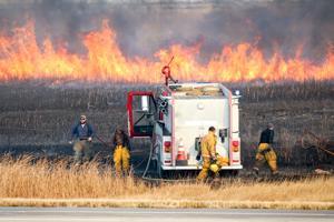 Grass fire north of Hillsboro