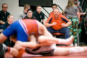 MPCG wrestling head coach Gary Mueller