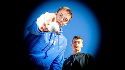 Sam Preston and Alex Cotton golf