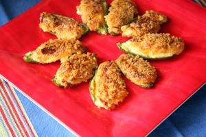 Stuffed jalapeno poppers