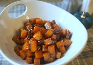 Cinnamon-roasted butternut squash