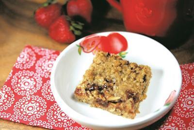 Strawberry-almond oatmeal bars