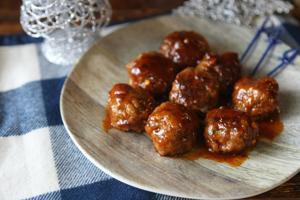 Creole BBQ meatballs