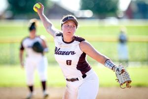 Saige Forseth pitches