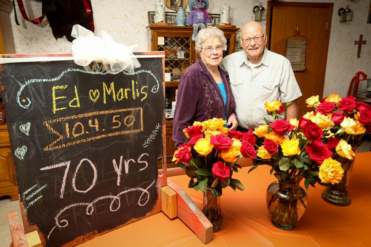 Ed and Marlis Olsen celebrating 70th anniversary