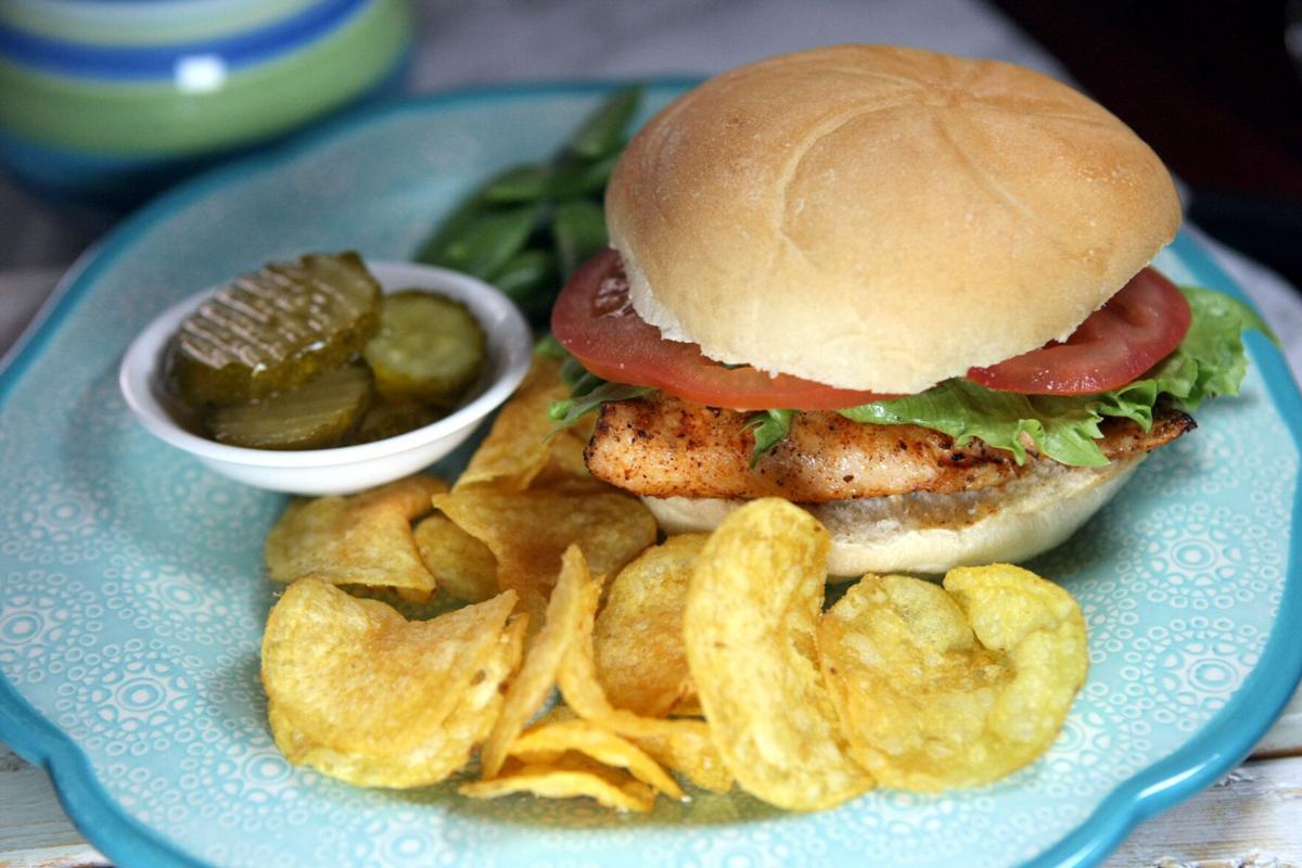 Grilled Cajun chicken sandwiches
