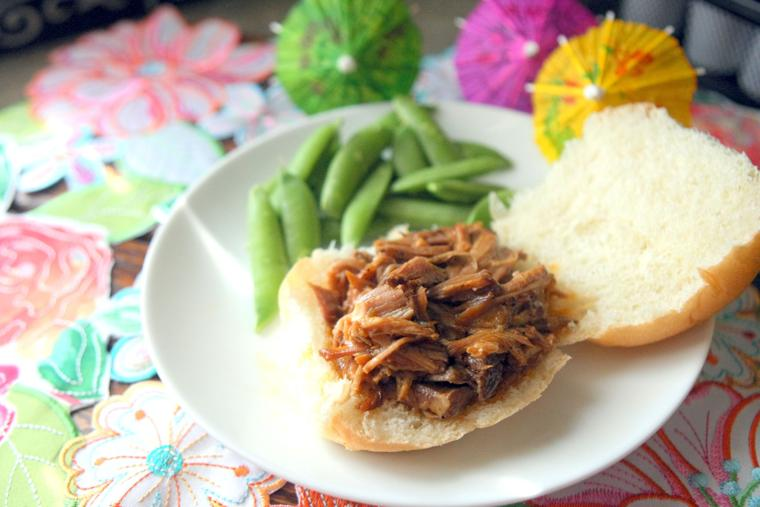 Hawaiian BBQ pork sandwiches