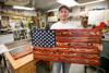 Patriotism and pine: Woodworker McClenahen takes after great-grandfather