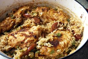 Cajun baked chicken & rice