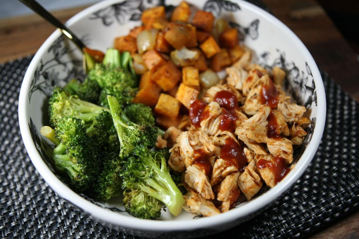 Sheet pan BBQ chicken & sweet potatoes