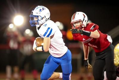 Parker Gallagher evades a tackle