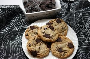 Spider-chip cookies