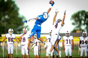 Gavin Wright soars for a one-handed interception