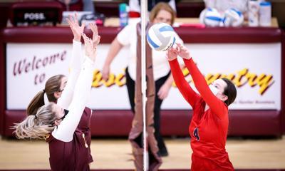 Grace Koshney tips a ball