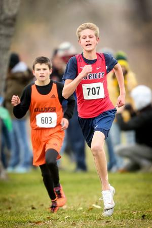 Tanner Lundwall runs at state