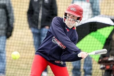 MayPort-CG freshman Rylee Satrom swings at a pitch