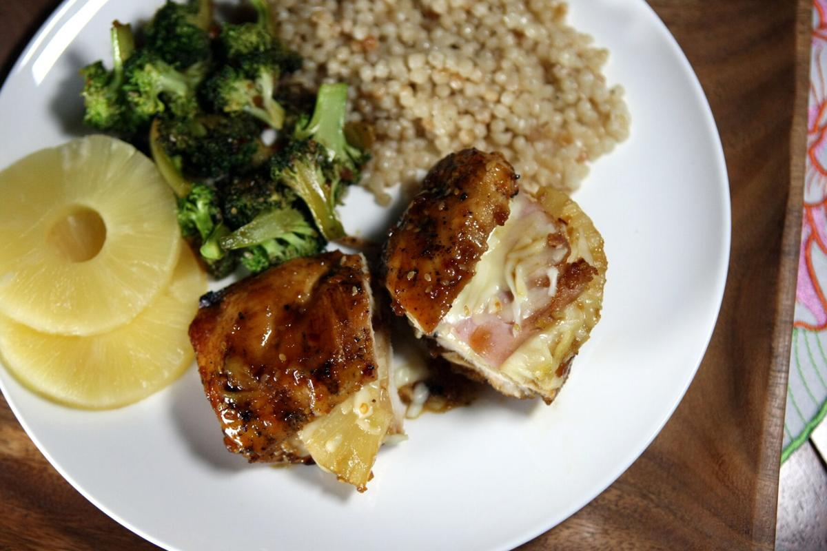 Hawaiian chicken cordon bleu