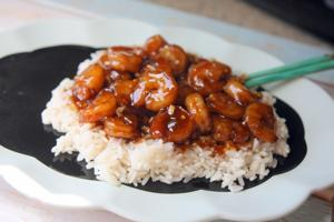 Honey-soy shrimp