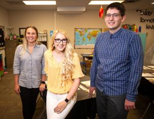 Hayleigh Lautt, Jessica Chasteen and Joseph Norris