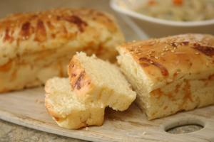 Mini Swiss cheese loaves