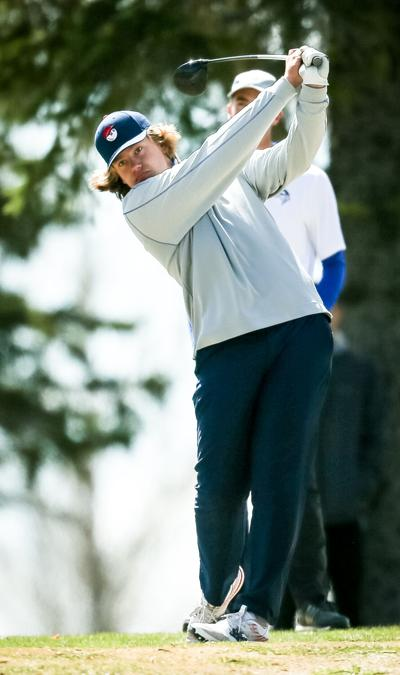 Nic Dale tees off