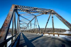 Red River bridge west of Climax