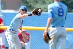 Cole Hebl fields a throw