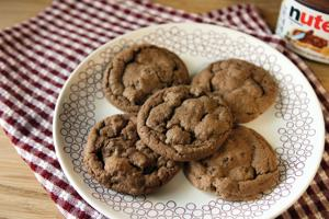 Nutella-chocolate chip cookies