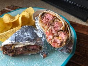 Ultimate meat & potato burritos