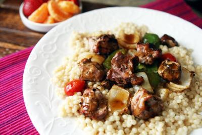 Grilled pork teriyaki
