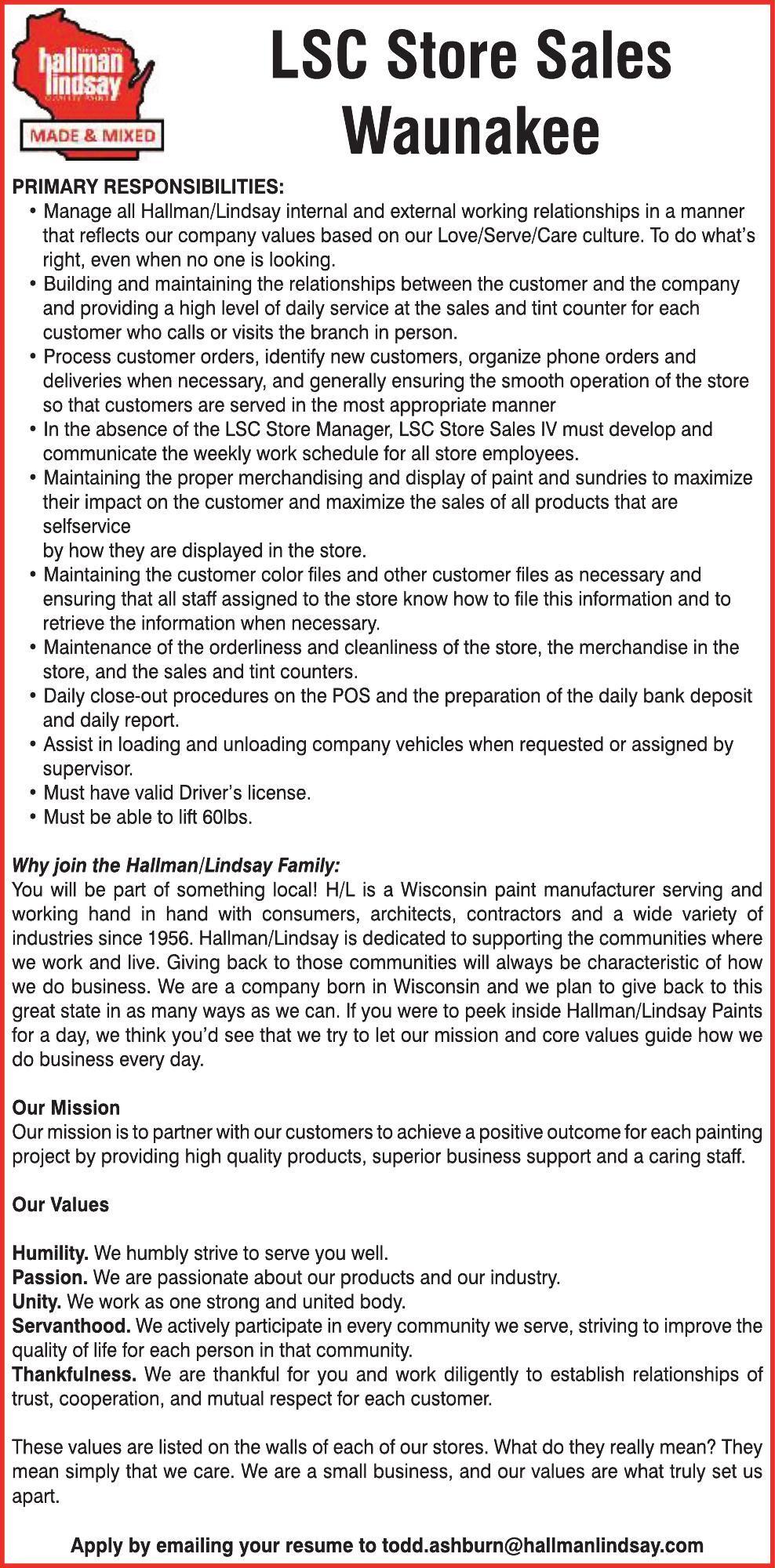 LSC Store Sales Waunkaee