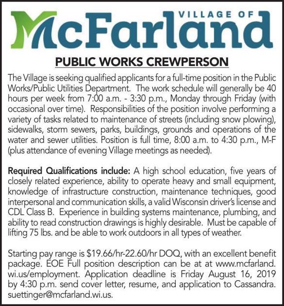 Public Works Crewperson | Jobs | hngnews com
