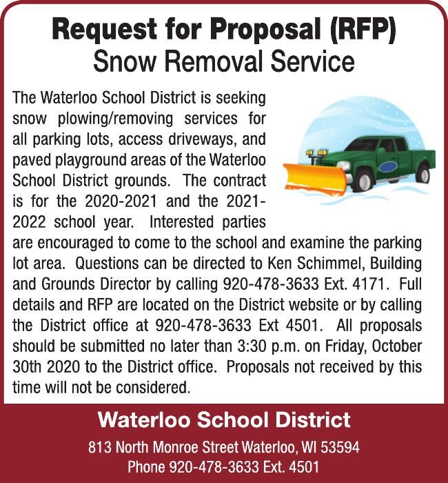 request for Proposal Snow Removal