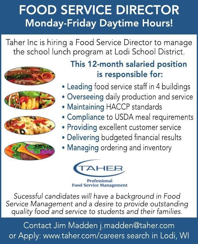 Taher Food Service Director