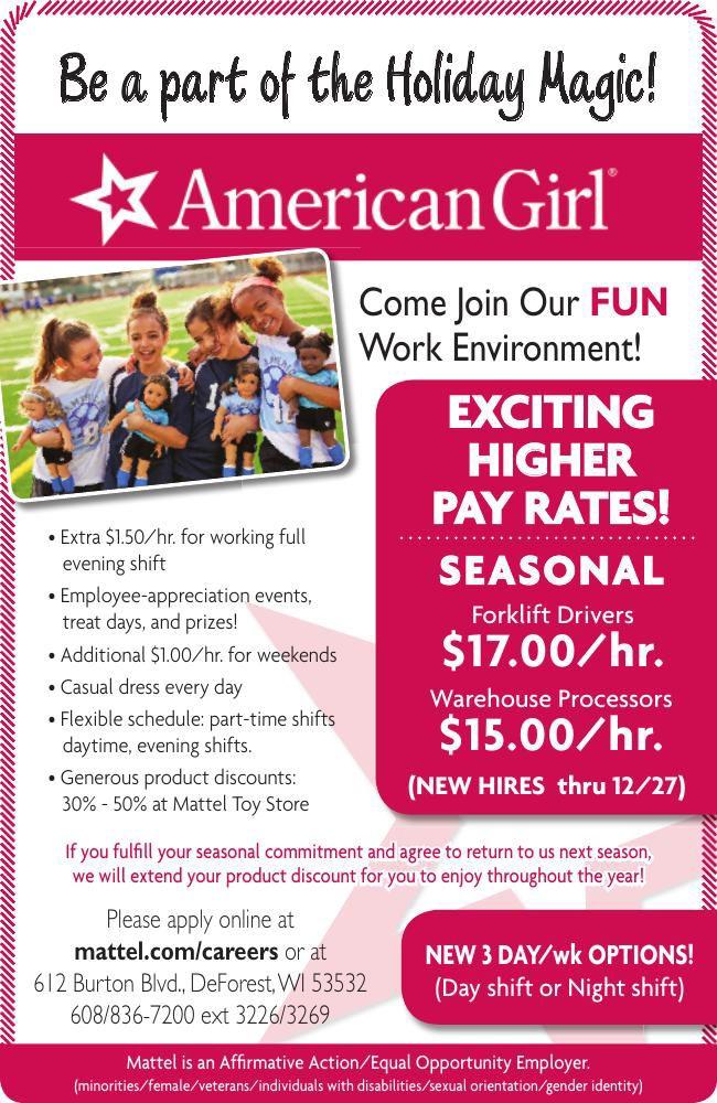 American Girl Hiring