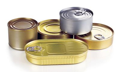 Tin cans of food